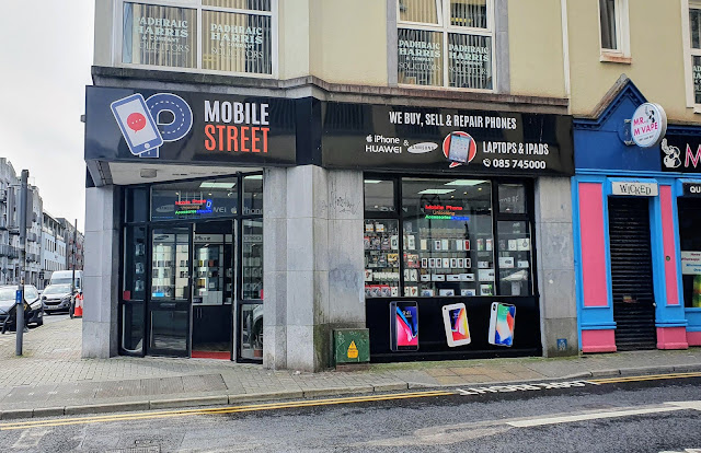 Galway phone shop next to Mr M Vape eCig shop near Dunnes Stores