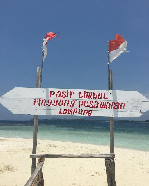 Pantai sariringgung pesawaran provinsi lampung