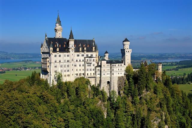 ドイツ、観光、城、ノイシュヴァンシュタイン城