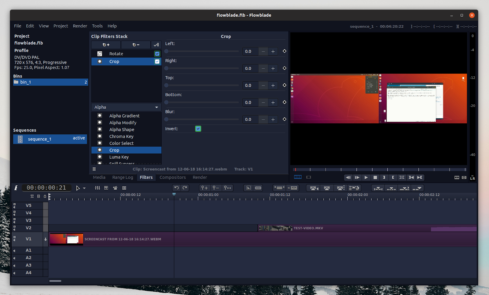 Free Linux Video Editor Flowblade 2 0 Released With