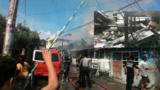 Kebakaran ya ng menghanguskan Rumah milik Sandi Lamatenggo - Kota Manado
