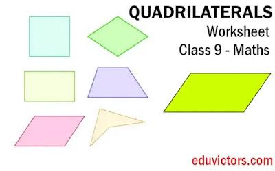 CBSE Class 9 - Maths - Quadrilaterals (Worksheet-4) (#class9Maths)(#eduvictors)