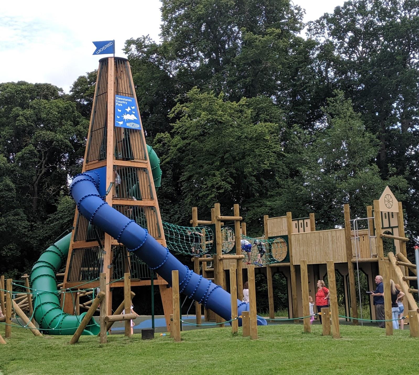 Harestanes Park, Jedburgh  - castle play area and slide