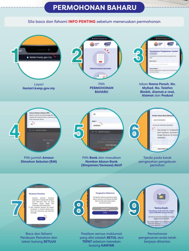 Cara Mohon Pengeluaran i-Lestari KWSP Online Tanpa Perlu Email dan Pos Borang