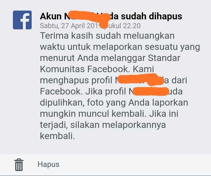 Cara melaporkan akun fb palsu agar ditutup