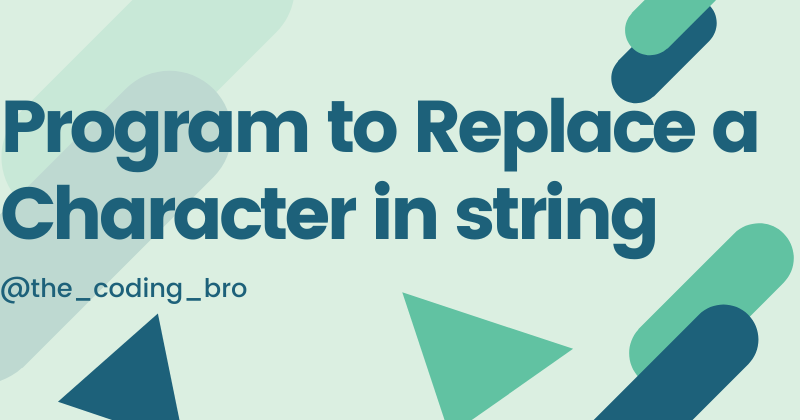Replace character of a string
