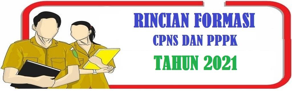 Rincian Formasi CPNS dan PPPK Pemerintah Kabupaten Lampung Utara Tahun 2021