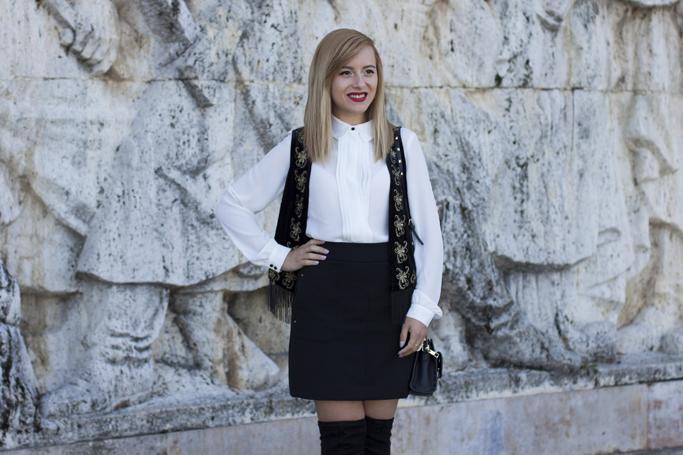 vision on fashion tinuta alb negru