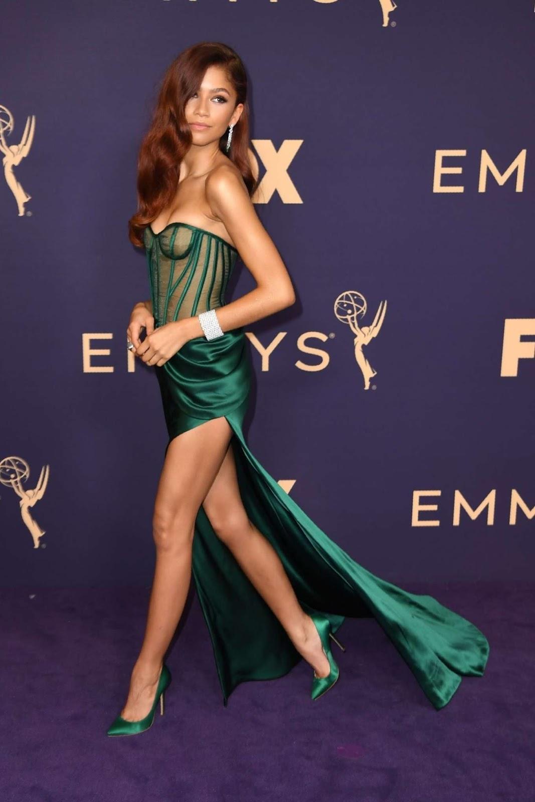 Zendaya is a Green Goddess at Emmy Awards