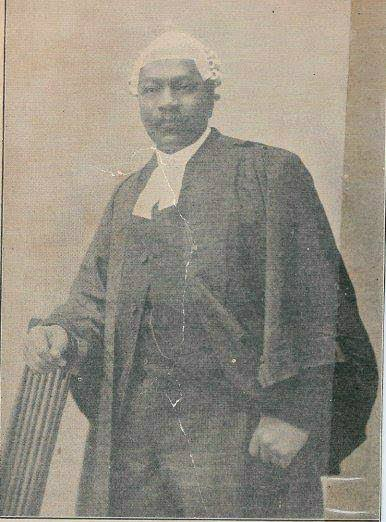 The first Nigerian lawyer in  history
