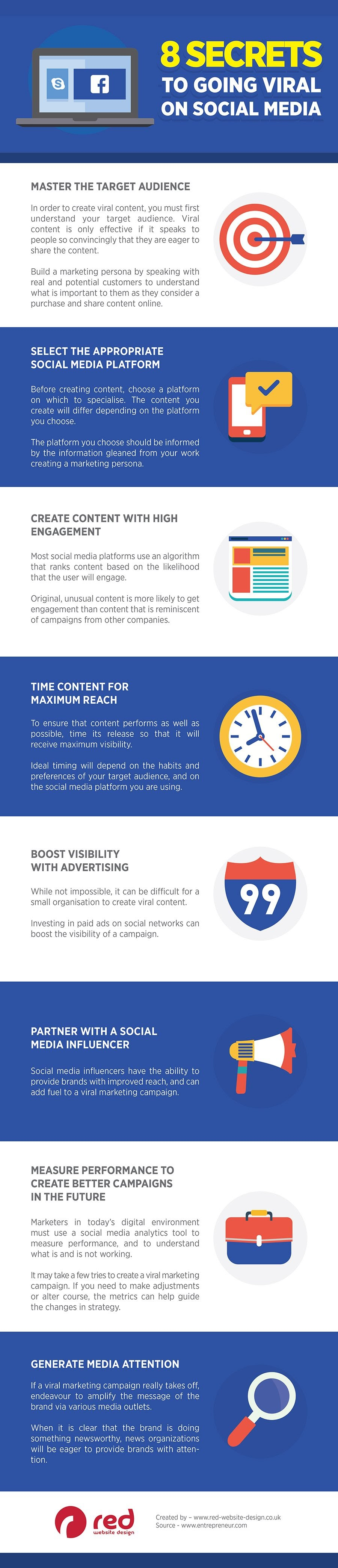 8 Secrets to Going Viral on Social Media - #Infographic