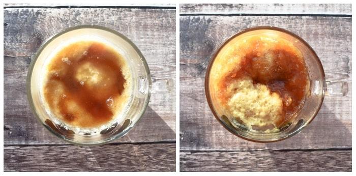 Microwave Golden Syrup Sponge Pudding - Step 5 - Bake
