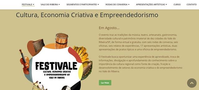 FESTIVALE – Festival de Cultura, Economia Criativa e Empreendedorismo no Vale do Ribeira