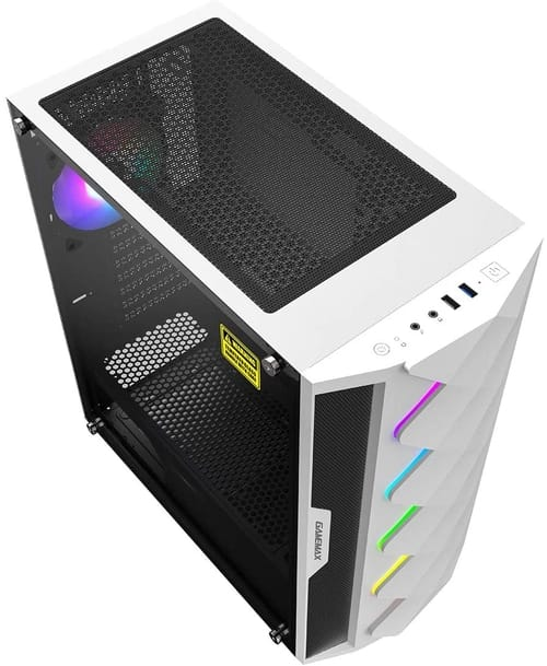 Review GameMax White Diamond ARGB PC Gaming Case
