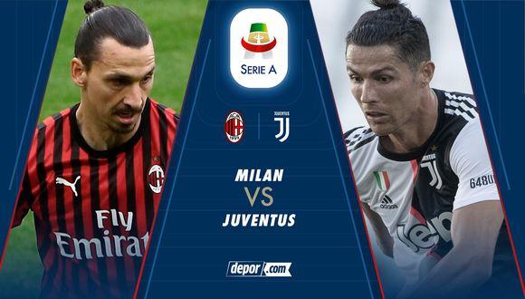 Hoy Juventus vs. Milan EN VIVO: Cristiano Ronaldo ante Zlatan Ibrahimovic por la Serie A de Italia 2020