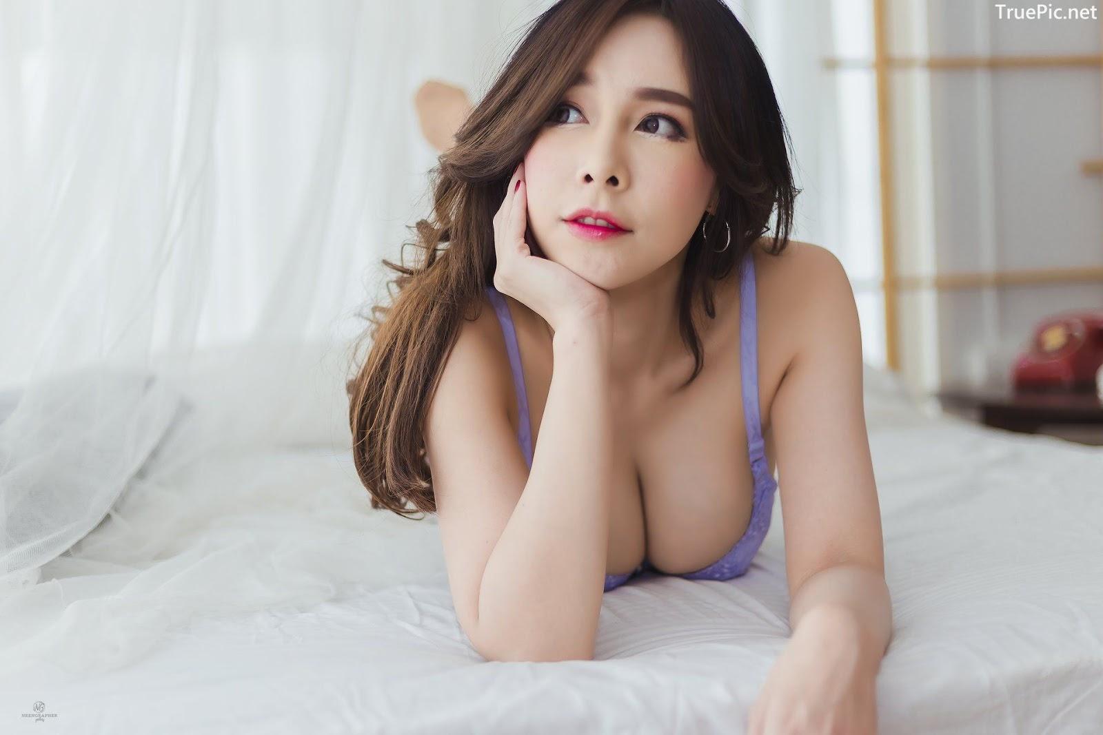 Image-Thailand-Hot-Model-Skykikijung-Purple-Lingerie-TruePic.net- Picture-2