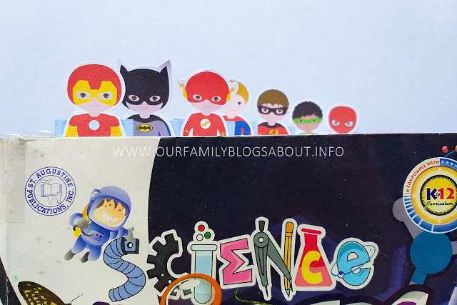 DIY, bookmarks, do it yourself, craft, superheroes bookmarks