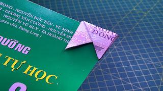 Hướng dẫn cách gấp bookmark bằng tiền giấy độc và lạ