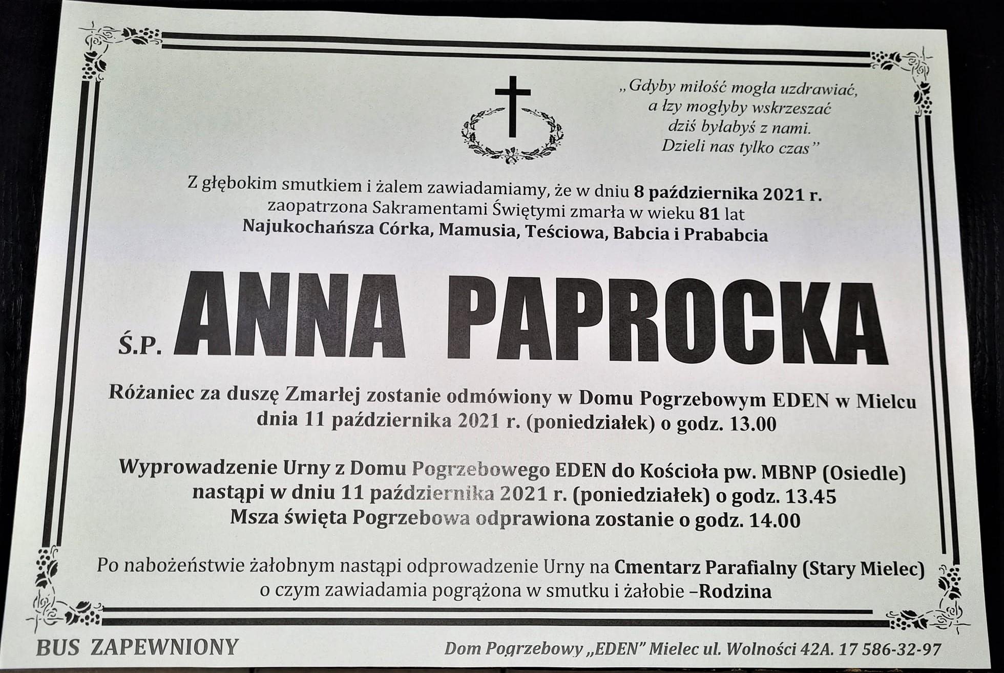 Odeszła Anna Paprocka - najfajniejsza seniorka Mielca
