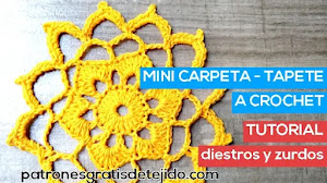 Mini Carpeta o Tapete a Crochet | tutorial en video
