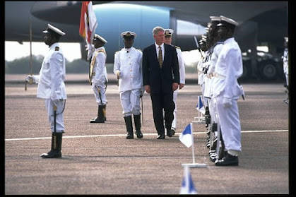 Today in History, On March 23, 1998, the President of U.S.A, Bill Clinton arrived in Ghana