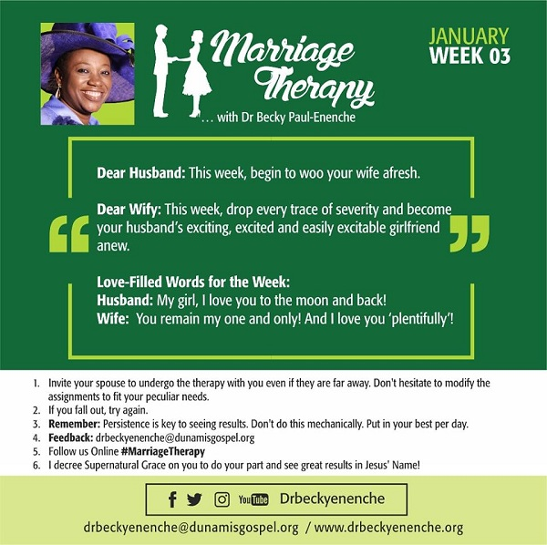 #MarriageTherapy with #DrBeckyPaulEnenche