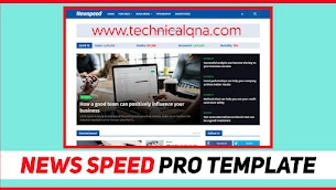 News Speed Premium Blogger Template 2020 - Responsive Blogger Template