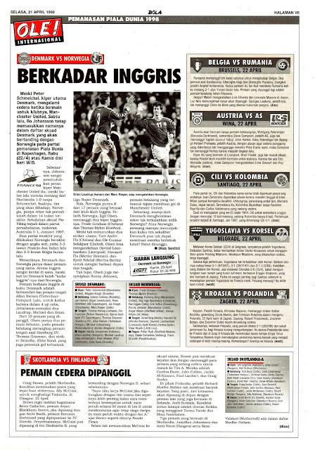 PEMANASAN PIALA DUNIA 1998: DENMARK VS NORWEGIA