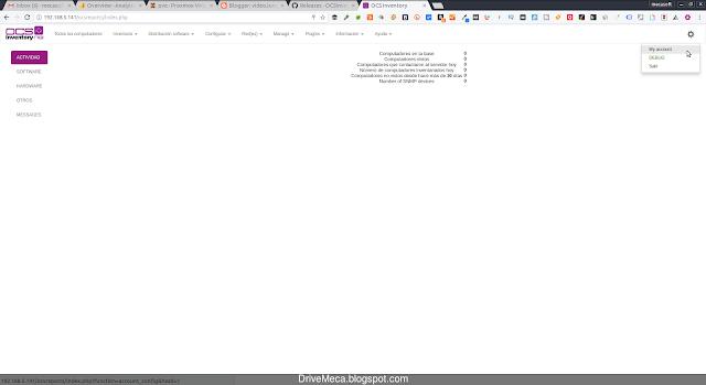 Configurando la consola web de OCSInventory