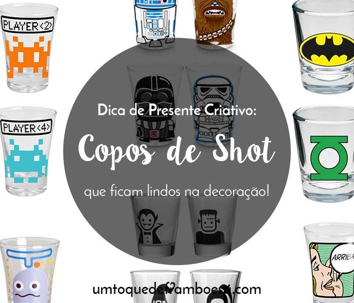Copos de shot para tequila que também podem ser usados na decoração