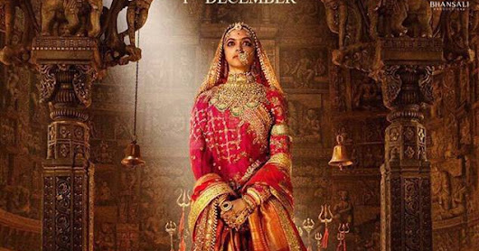 Padmavati first poster has been released On Navratri, Deepika wearing a red royal dress and heavy Rajasthani jewelry. See both photos...