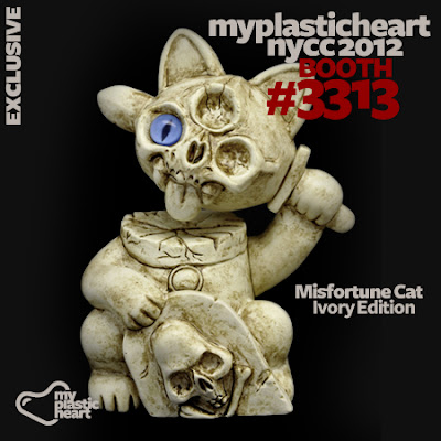 NYCC 12 Exclusive Ivory Edition Misfortune Cat by Chris Ryniak