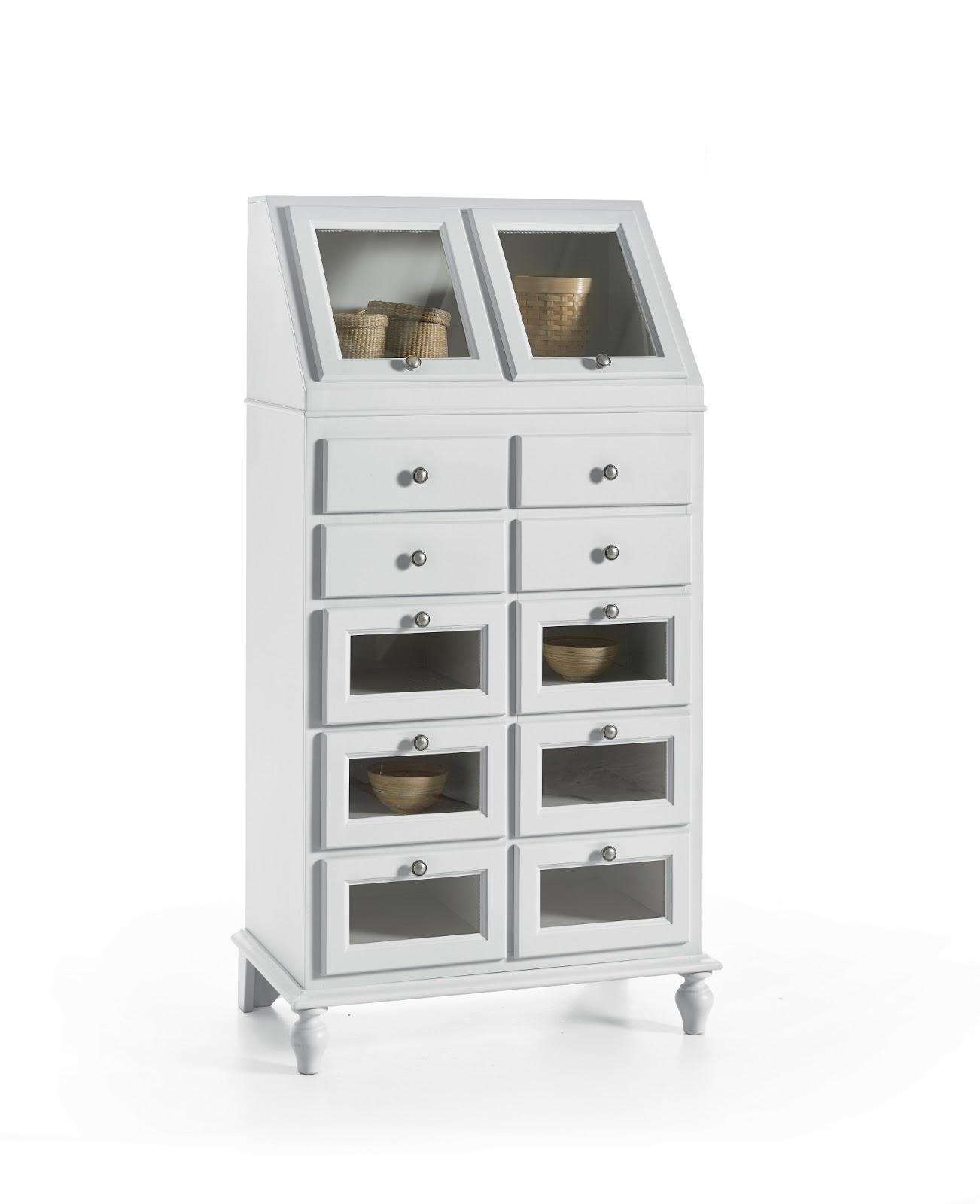 Dispensa mobile da cucina in legno 10 cassetti 2 ribalta in legno bianco ebay - Mobile cucina dispensa ...
