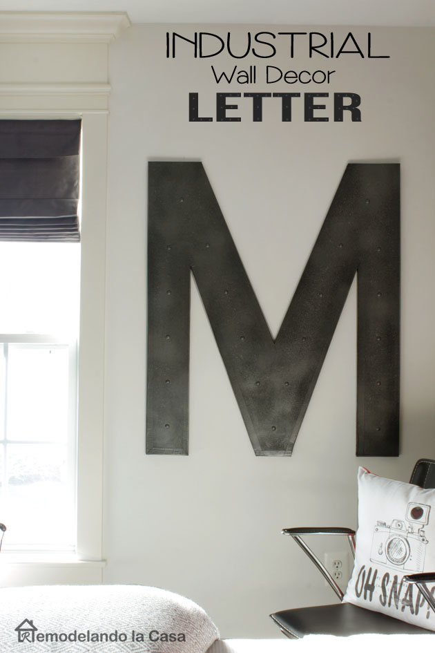 Letter M   Industrial Wall Decor