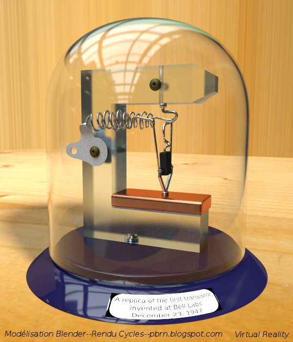 Blender 4d le transistor invention du si cle mod lis e for Le transistor