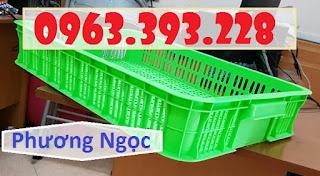 Sọt đựng hàng trong siêu thị, sọt rỗng cao 10, sóng nhựa HS010 7a56f1a45ac9a297fbd8