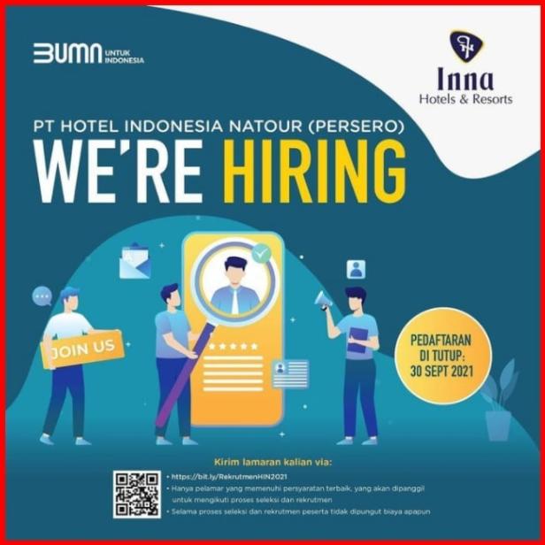 Lowongan Kerja Medan PT Hotel Indonesia Natour Terbaru 2021