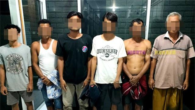 6 Orang Pria Ditangkap Saat Asik Main Judi Domino