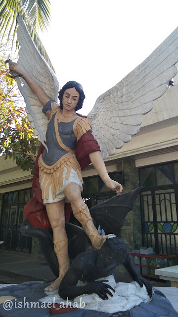 St. Michael crushing the Devil at St. Michael the Archangel Chapel in Taguig City