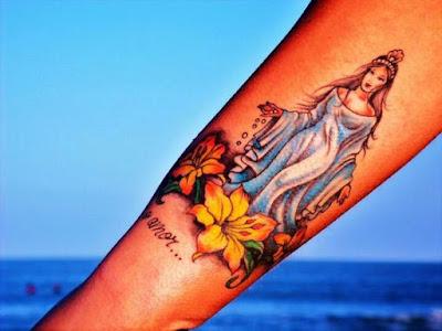 tatuaje Virgen de Yemayá