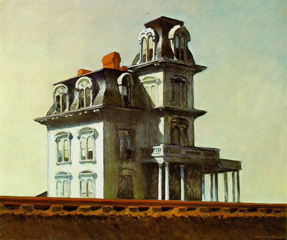 Casa junto a la vía del tren. Edward Hopper. 1925, Óleo sobre lienzo, 61x73,7 cm. Nueva York, Museo de Arte Moderno.