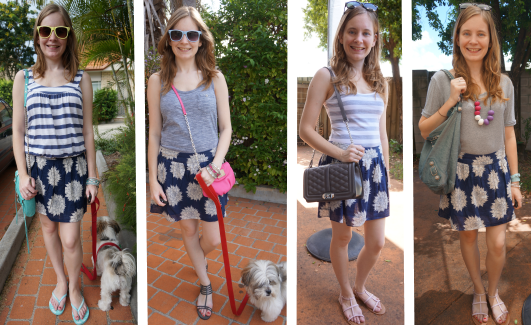 Away From Blue Aussie Blogger Summer Outfits 4 ways Roxy Navy Miniskirt