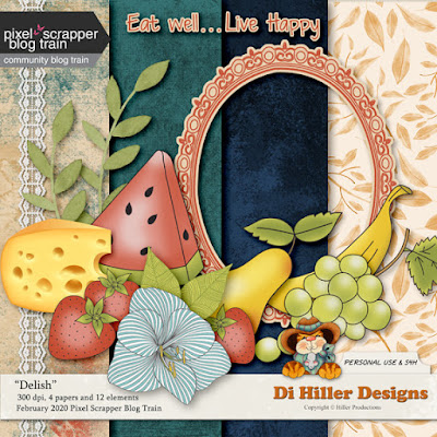 Delish Blog Train Freebie by Di Hiller