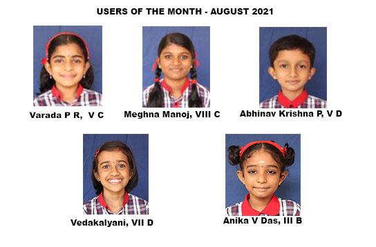 Users of the Month August 2021 - E-learning and Digital Library Portal