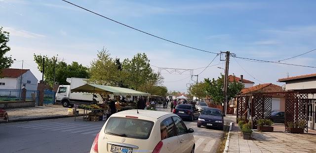 Επαναλειτουργεί σήμερα η Λαϊκή αγορά στο Τυχερό μετά από αρκετό καιρό λόγω του covid-19