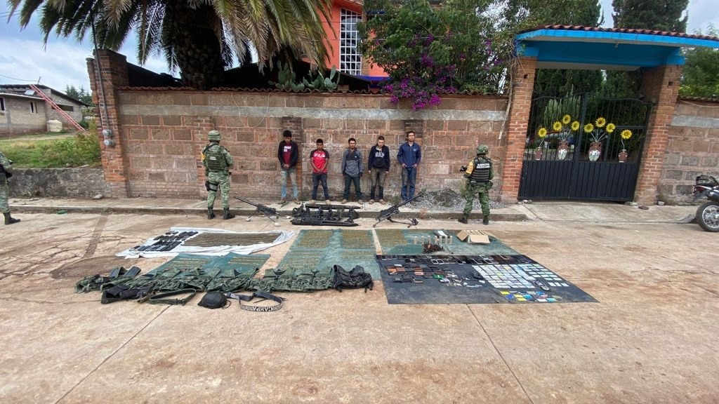 Capturan a 5 Sicarios que se enfrentaron a Soldados en el Estado de México
