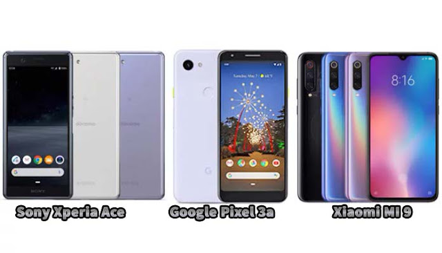 Sony Xperia Ace vs Xiaomi Mi 9 SE vs Google Pixel 3a: Adu spesifikasi