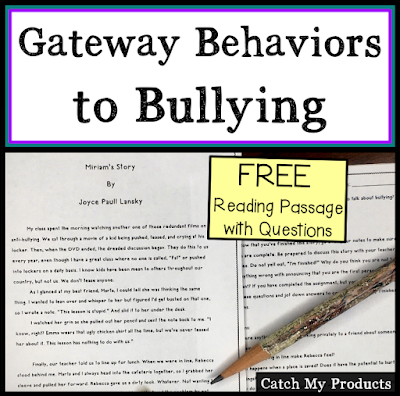 Gateway Behaviors to Bullying FREE Reading Passage