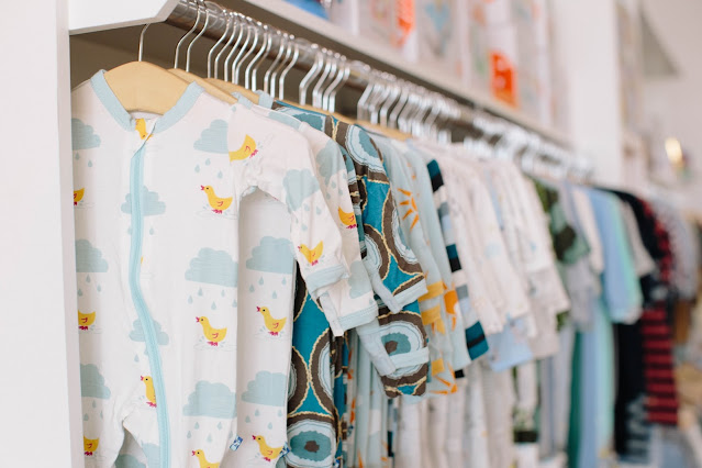 pretty and comfortable onesies on the clothing rack