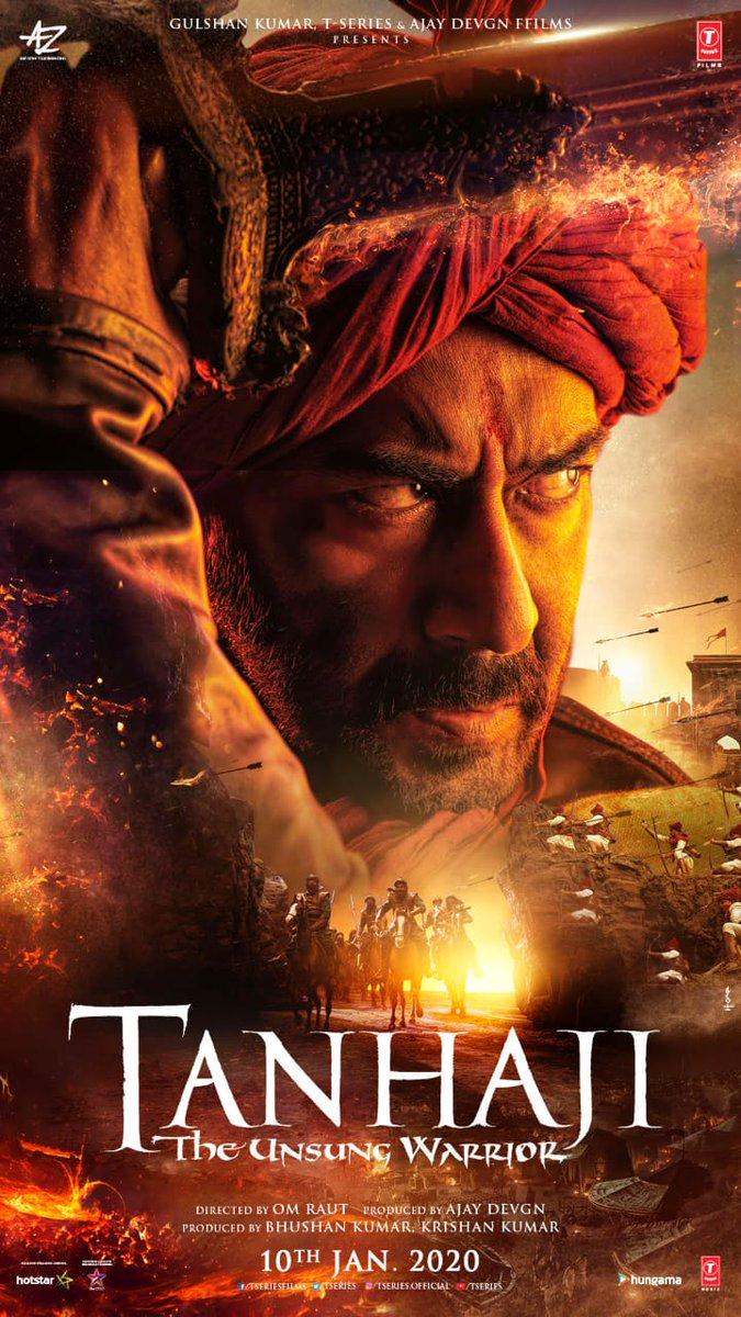 Tanhaji - The Unsung Warrior Movie Posters, Film releases ...